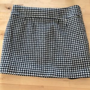 Banana Republic plaid Wool Mini Skirt